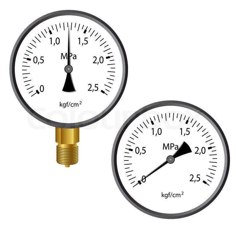 gas manometer. the gas manometer isolated on white background | stock vector colourbox t