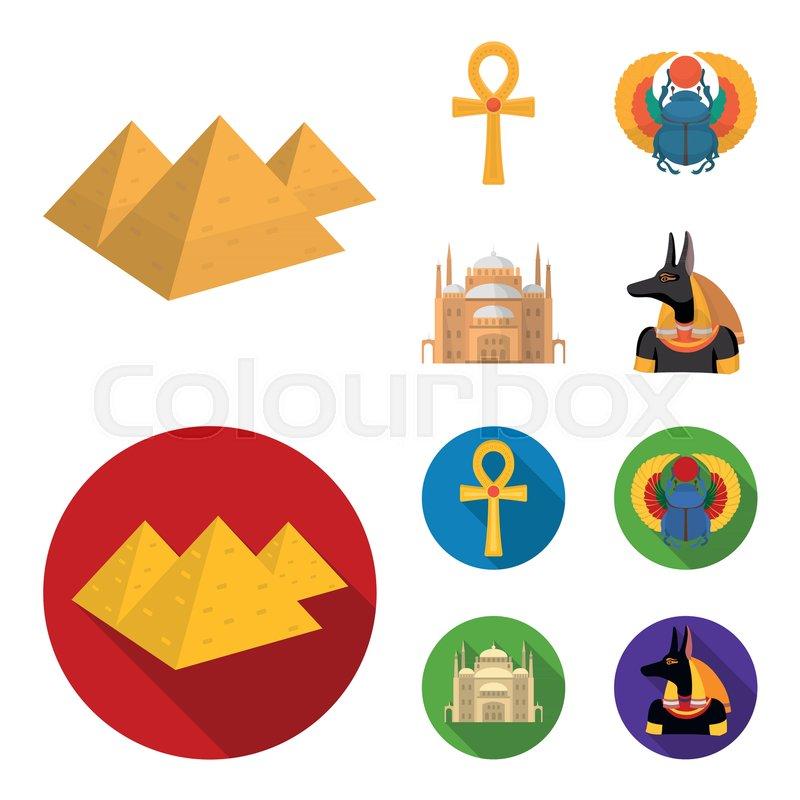 Anubis, Ankh, Cairo citadel, Egyptian     | Stock vector | Colourbox