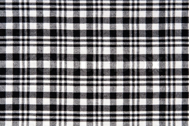Black And White Checkered Cloth Background Stock Photo