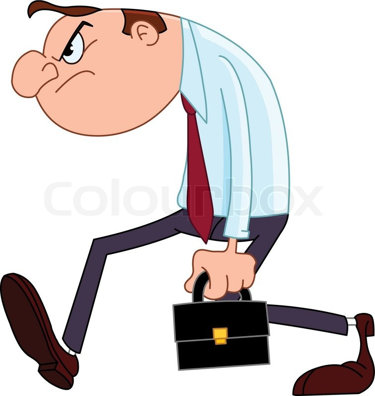 Disappointed Businessman Vector Colourbox