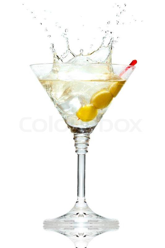 olive splashing on martini glass isolated on white clip art without white background free clip art with no white background