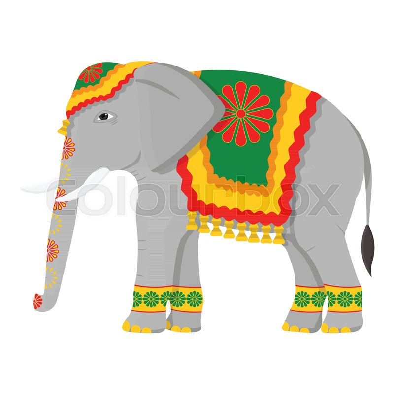 indian elephant icon in cartoon style isolated on white background india symbol stock vector. Black Bedroom Furniture Sets. Home Design Ideas