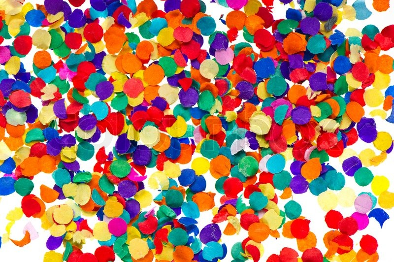 Stock image of 'Colorful confetti background. carnival'