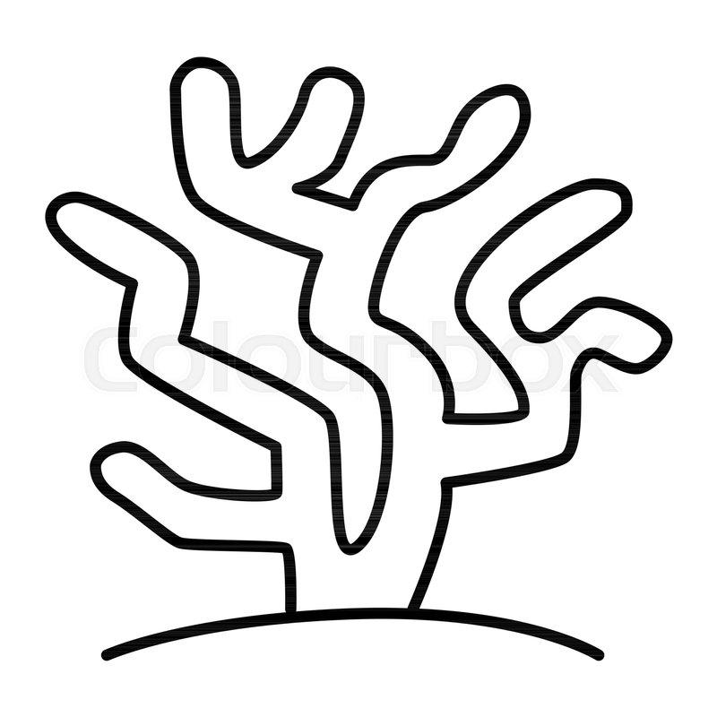 Coral thin line icon. ...