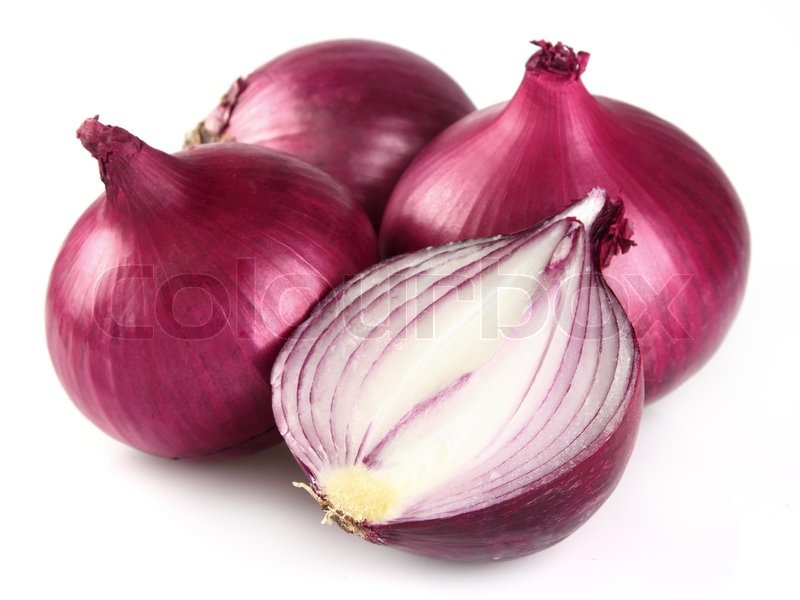 Red onion in closeup | Stock Photo | Colourbox
