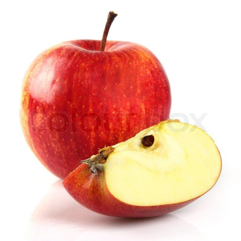 red apple slice. red apple slice k