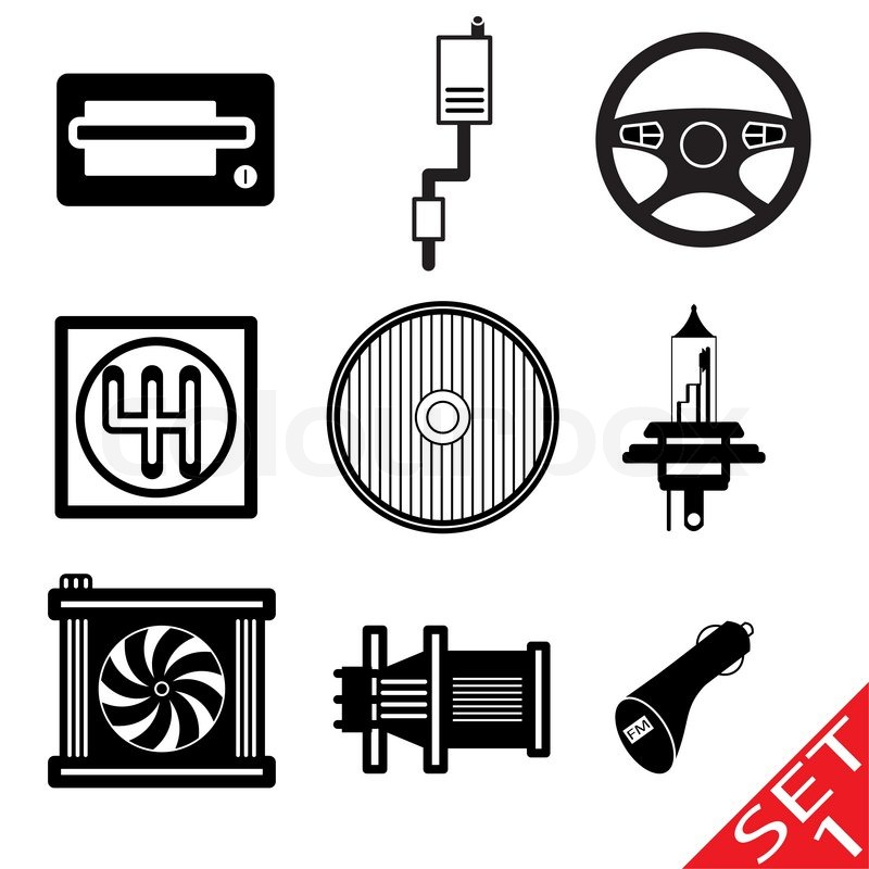 Car icon parts and accessories Vector Illustration | Stock Vector ...