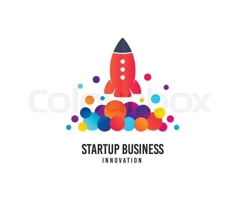 Startup business logo space rocket vector icon with dots space rocket vector icon with dots creativity studio logo business company brand sign minimalistic modern startup graphic logotype typography template friedricerecipe Choice Image