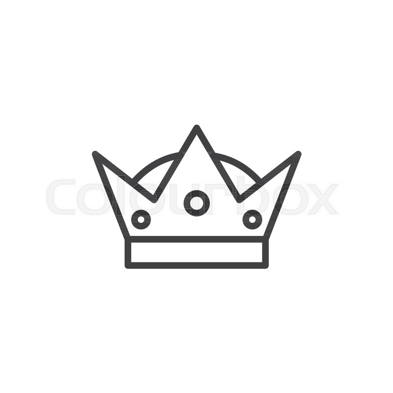 Crown Outline Icon Linear Style Sign Stock Vector Colourbox Crowns are headdresses that symbolize royalty. crown outline icon linear style sign