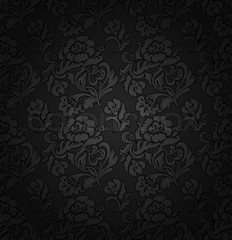 Corduroy Background Ornamental Flowers Texture Fabric