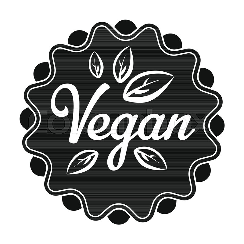 Vegan icon in black style isolated on     | Stock vector