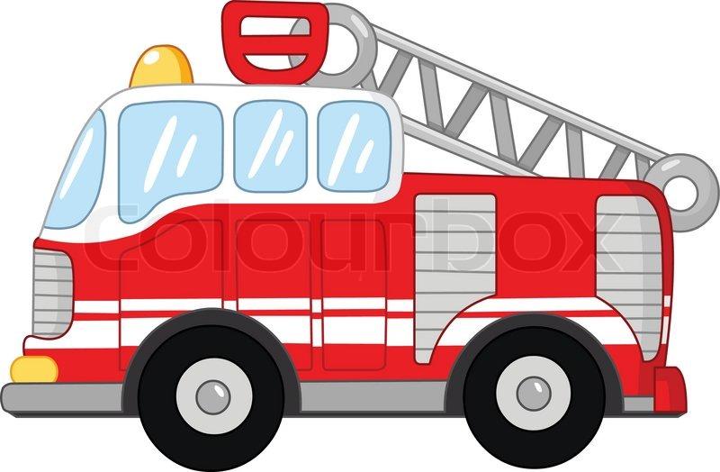 Feuerwehrauto Vektorgrafik Colourbox