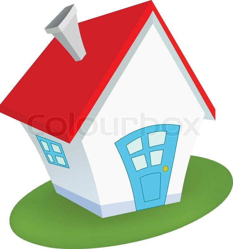 Little House Stock Vector Colourbox