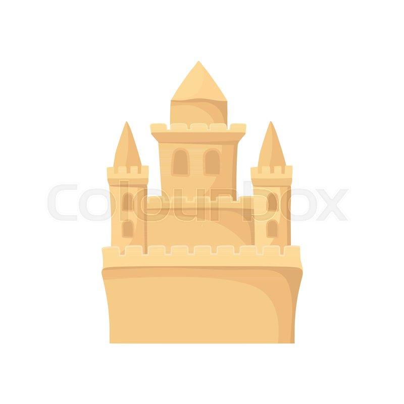 Cartoon icon of royal sand castle      | Stock vector
