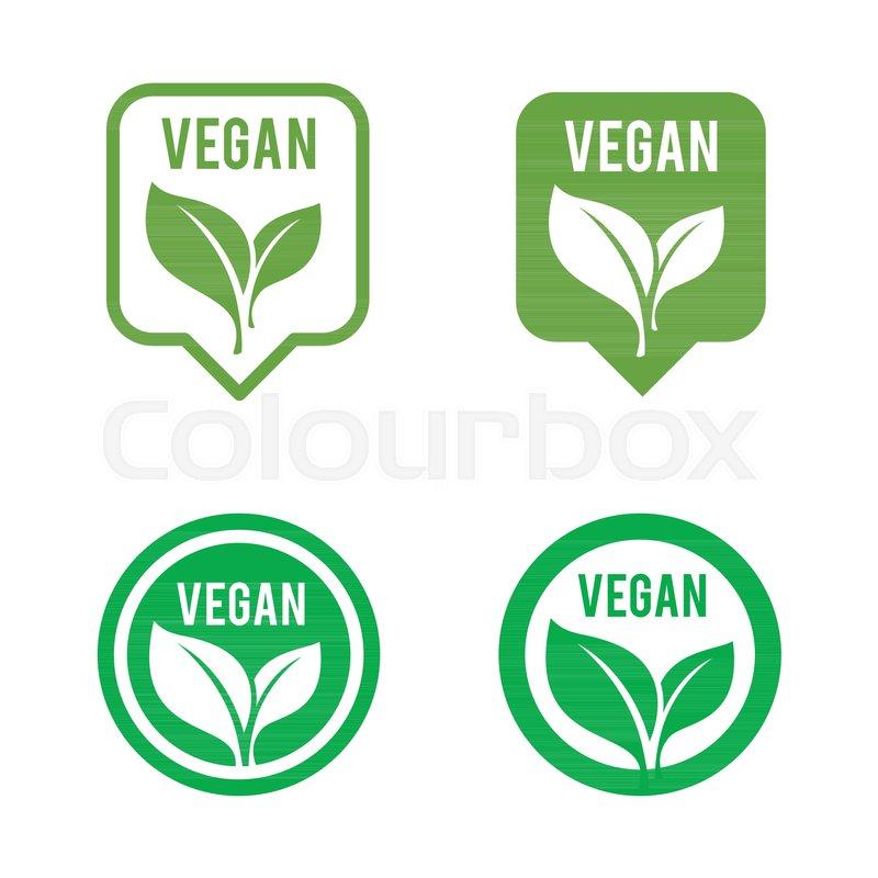 Vegan icon set  Bio, Ecology, Organic     | Stock vector | Colourbox