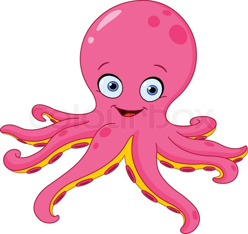 cute pink octopus cartoon - photo #13