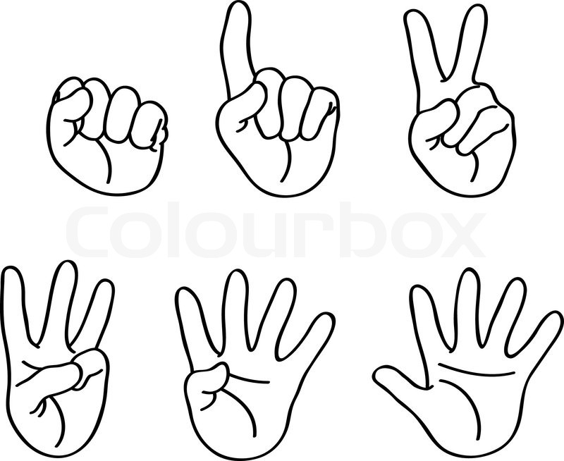 coloring pages counting fingers - photo#3