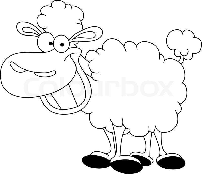 Outlined sheep | Stock Vector | Colourbox