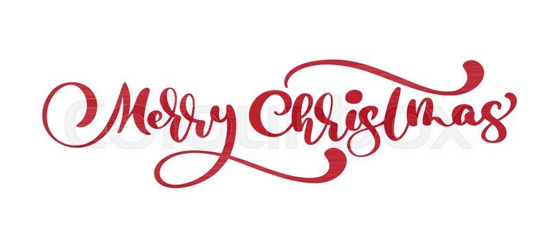 Merry Christmas Lettering.Merry Christmas Vector Text Stock Vector Colourbox