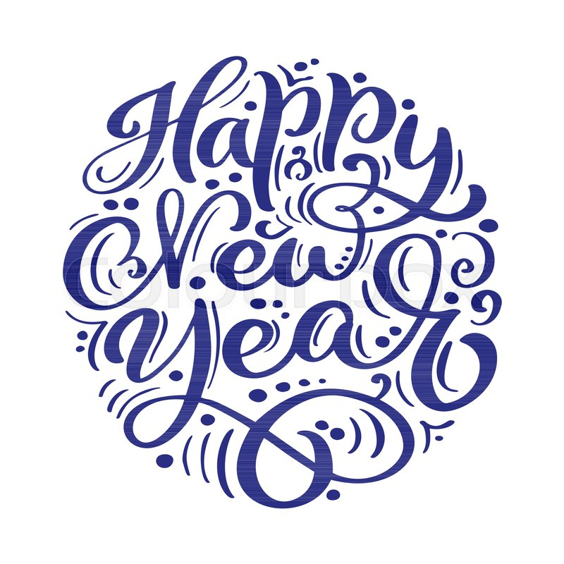 Happy New Year Lettering Design 37