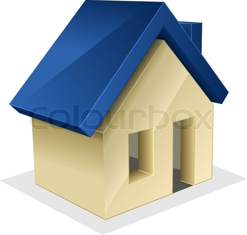 Picture Of House vector icon of house | stock vector | colourbox