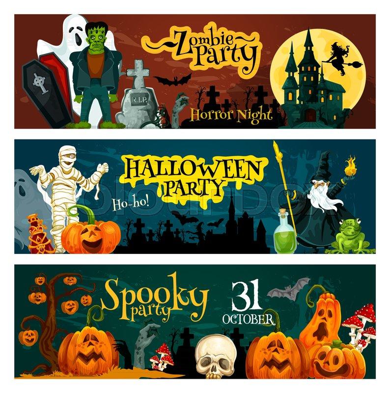 Halloween Zombie Party Invitation Stock Vector Colourbox