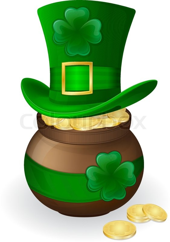 Illustration for St. Patrick's day. Green hat with ...