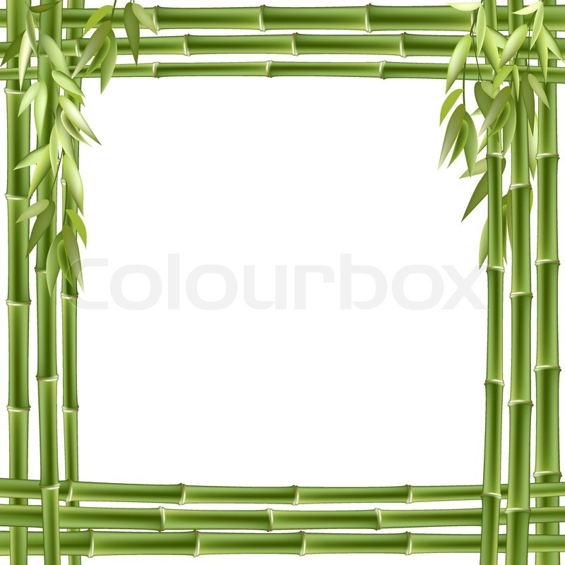 Bamboo frame. Vector background with copy space   Stock Vector ...