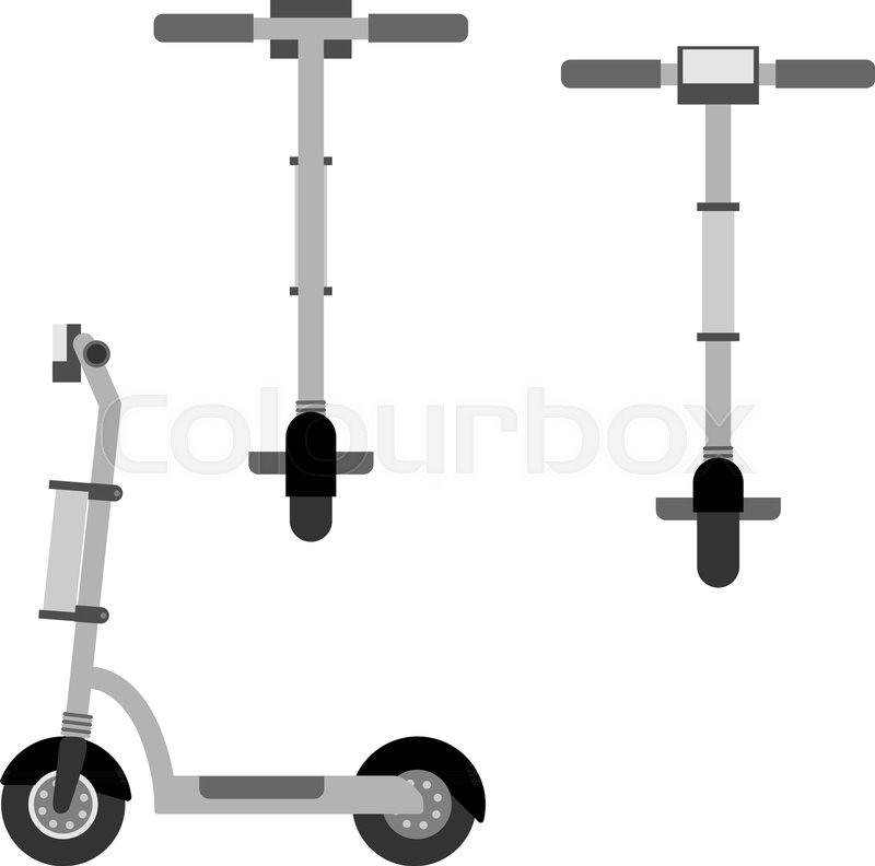 electric scooter icons set in flat stock vector colourbox electric scooter icons set in flat