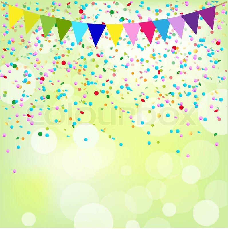 birthday poster vector background stock vector colourbox
