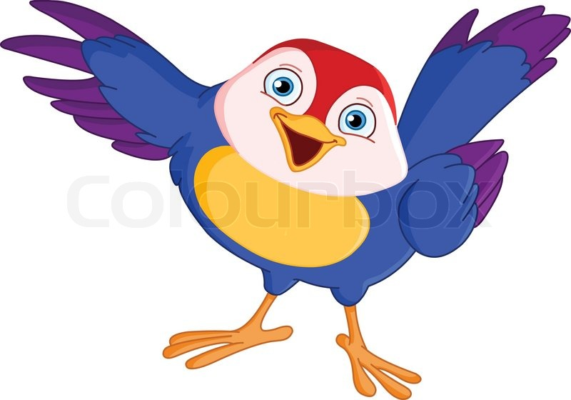 Cute peger fugl | Vektor | Colourbox