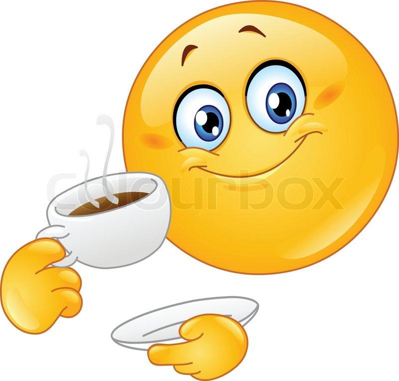 Bildergebnis für smiley kaffee trinken