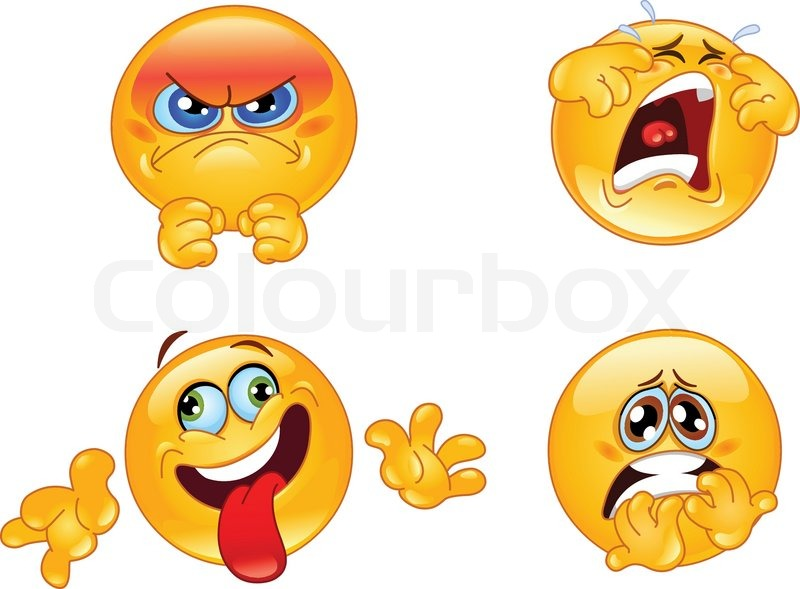 Emotions Emoticons Stock Vector Colourbox