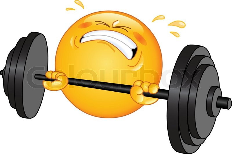 Weightlifter Emoticon Vektorgrafik Colourbox