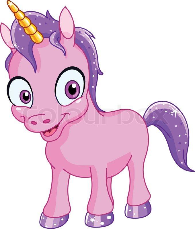Smiling unicorn | Stock Vector | Colourbox