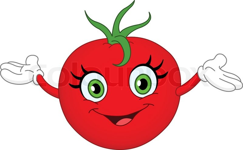 3461272 cheerful cartoon tomato raising her hands