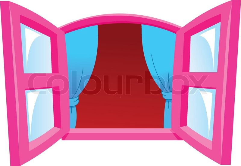 Cartoon Window Stock Vector Colourbox