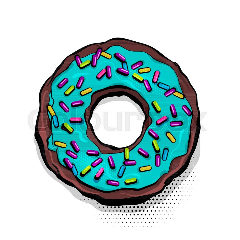 Cartoon Doughnut Factory: Doughnut Sweet Food, Donut Cartoon Pop ...