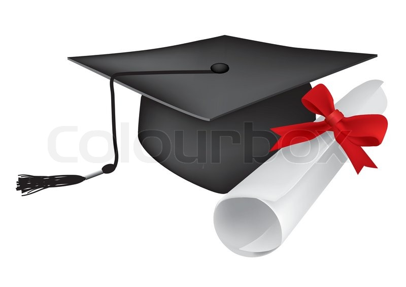 graduate cap diploma stock vector colourbox