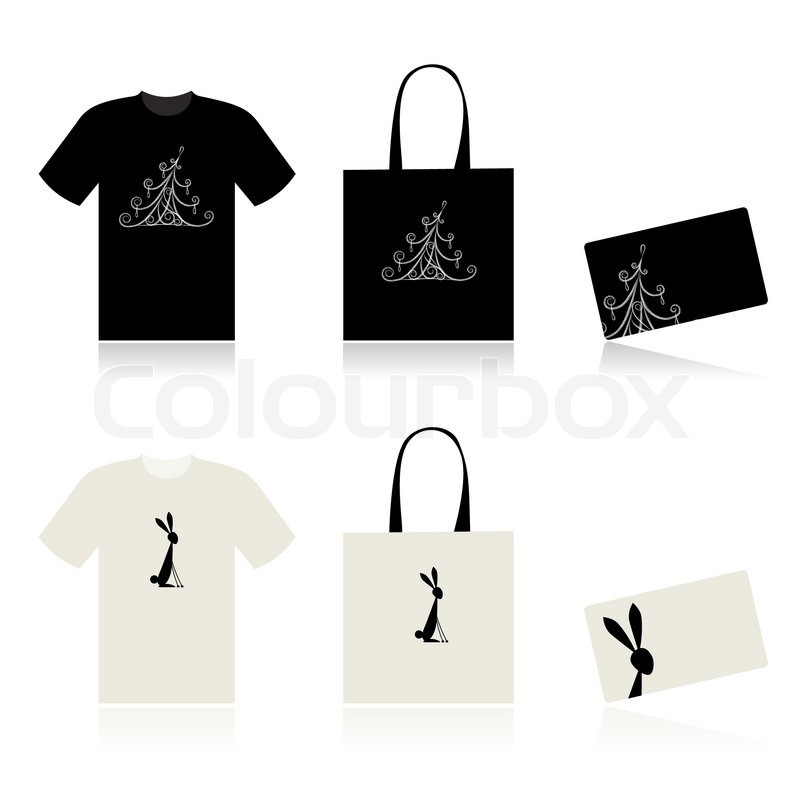 Christmas shopping t shirt bag and payment card stock for Holiday t shirt bags