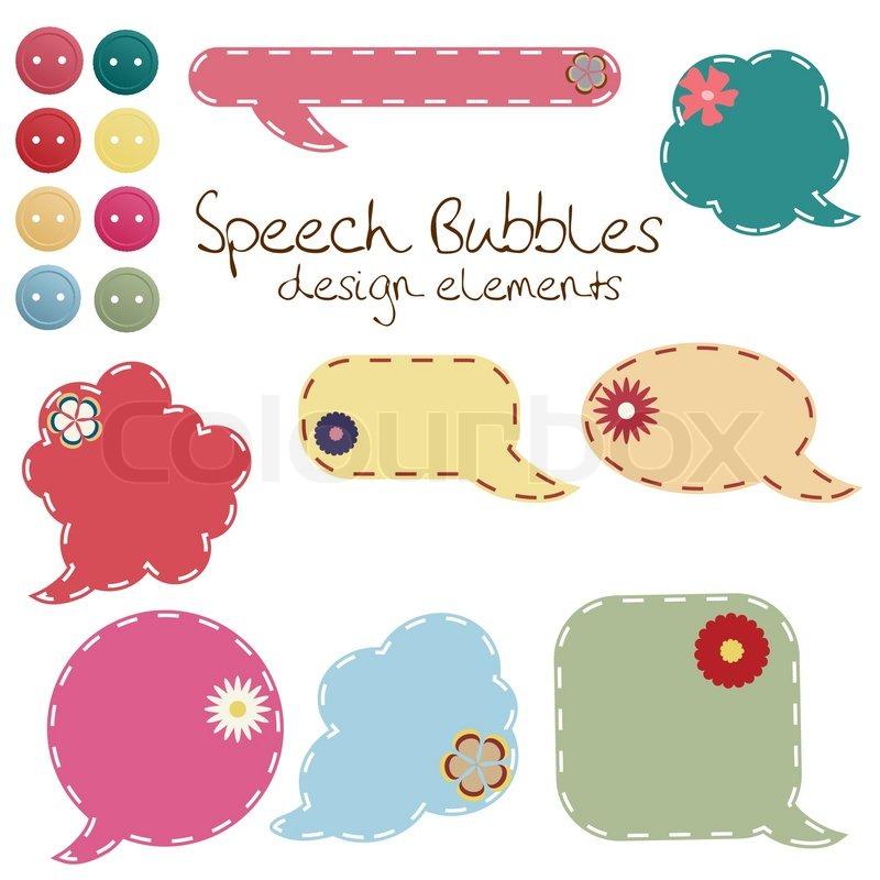 Set Of Different Speech Bubbles Stock Vector