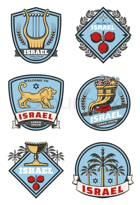 Israel Travel And Culture Icons Of Traditional Jewish Symbols