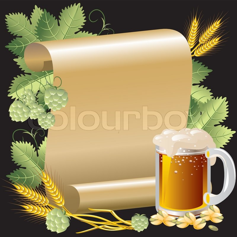 vektorgrafik bier im hintergrund der rolle von gold papier stock vektor. Black Bedroom Furniture Sets. Home Design Ideas