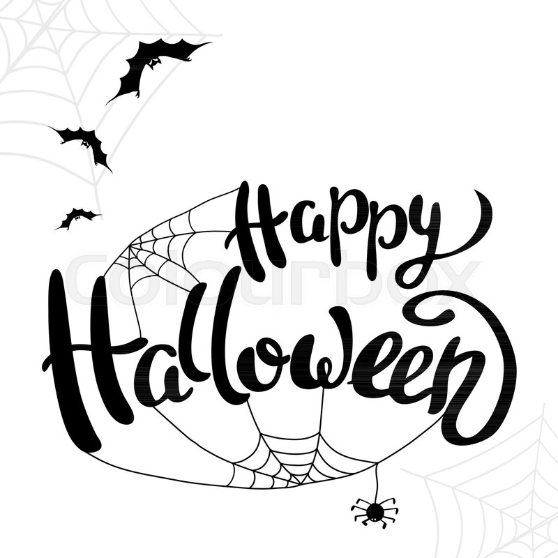 Halloween Template | Happy Halloween Template For Banner Or Stock Vector Colourbox