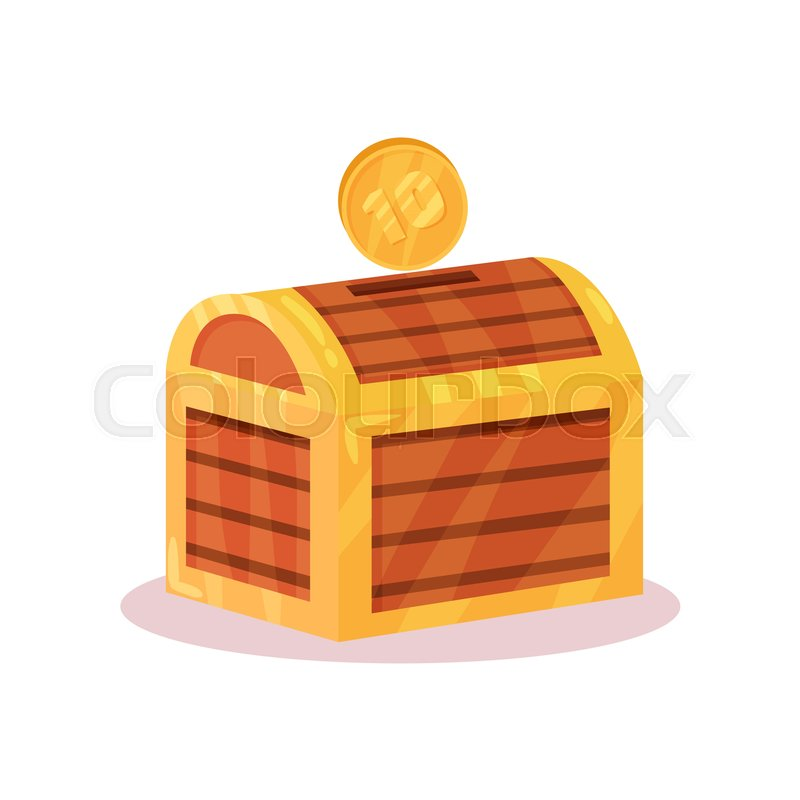 Icon Of Small Money Box In Shape Of Stock Vector Colourbox