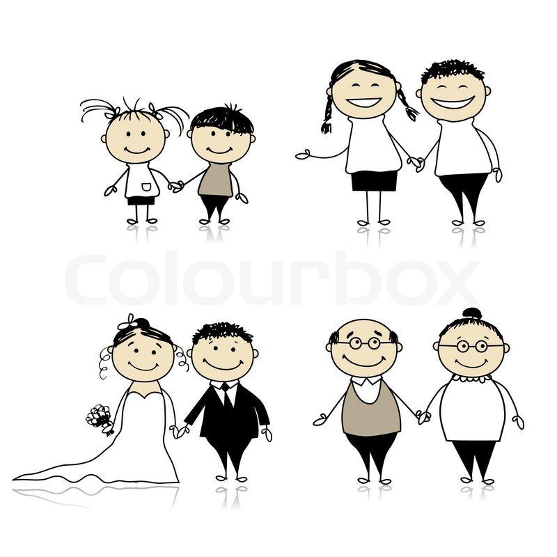 Verwandtschaftsbeziehung - Kinder, Jugendliche , Erwachsene ...