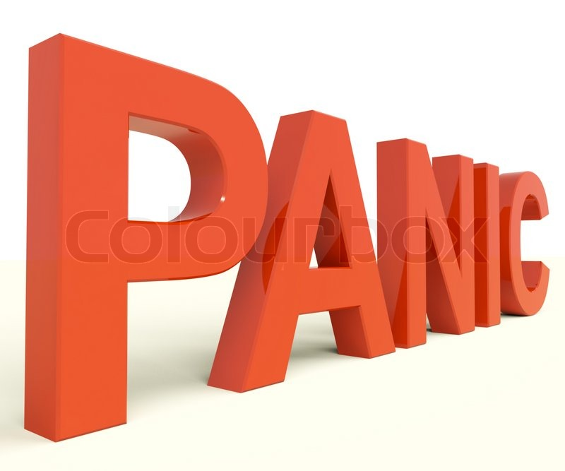 Panic Word As Symbol For Emergency And Stress Stock Photo Colourbox