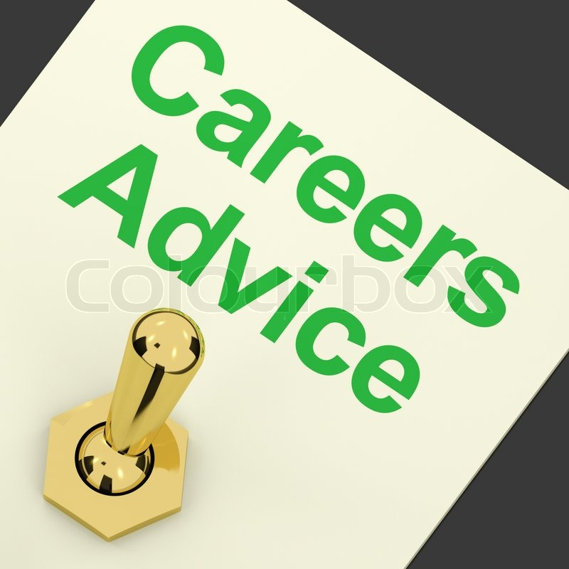 Careers Advice Switch Shows Employment Guidance And Decisions, stock photo