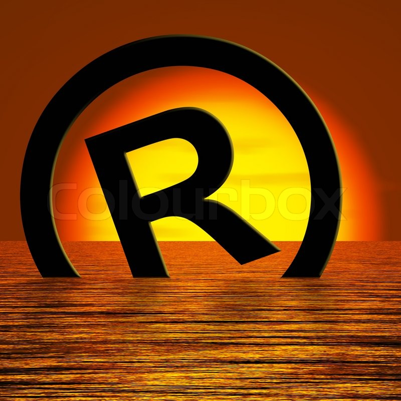 Registered Symbol Sinking Meaning Piracy Or Infringement Stock