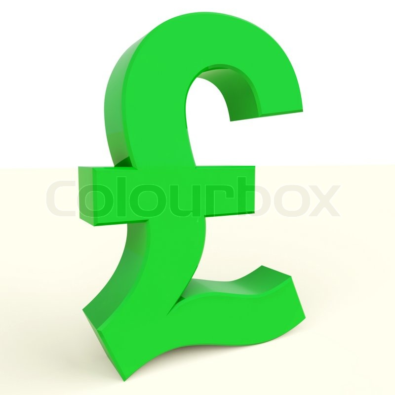Pound Symbol For Money And Investment In England Stock Photo